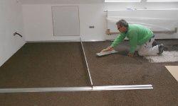 Fußbodenaufbau mit Trockenschüttung