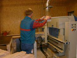 Holzdielen-Produktion