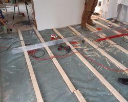 Richtscheit-Holzboden